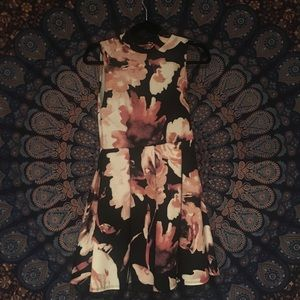 FLORAL TURTLENECK DRESS